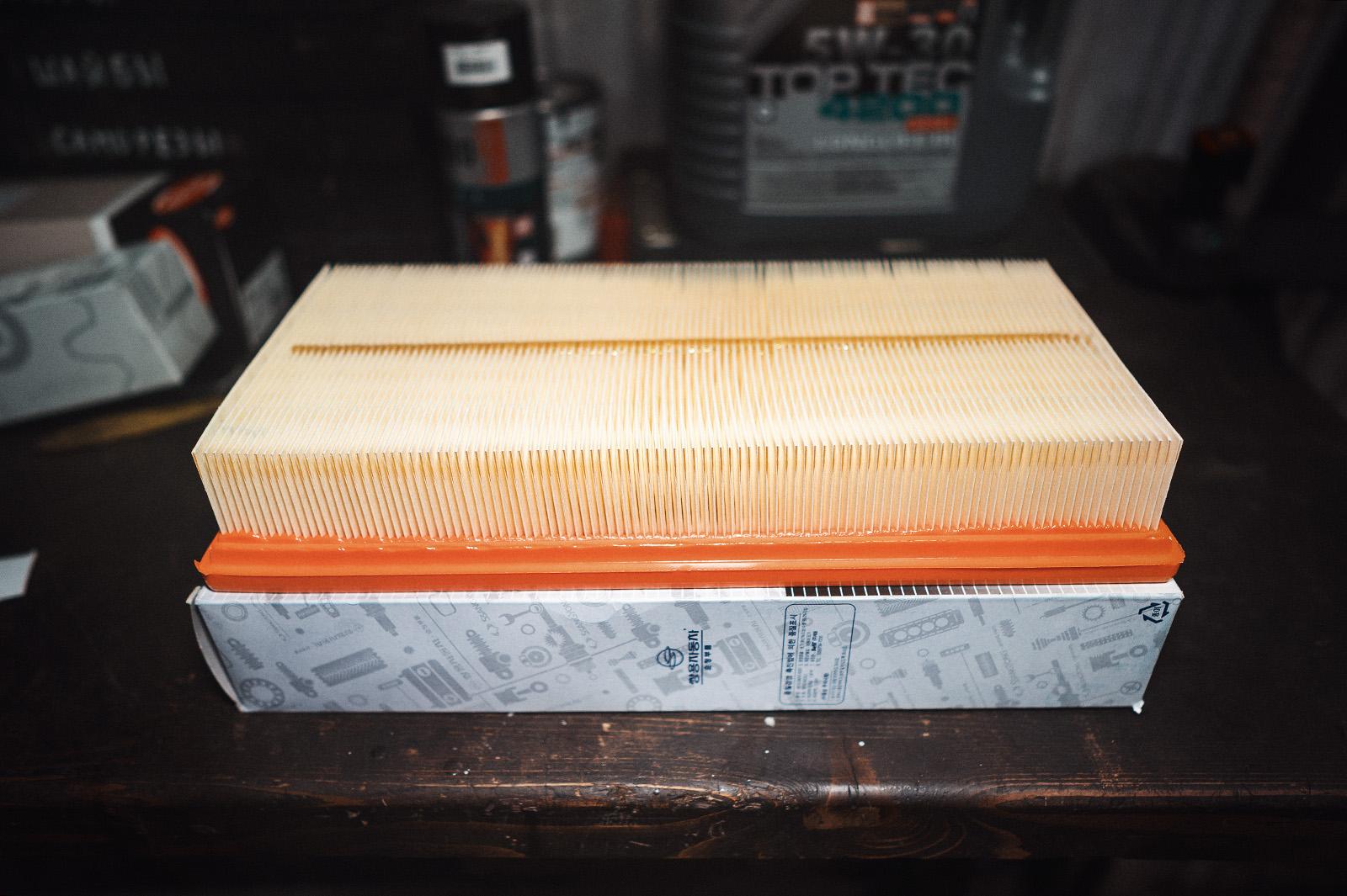 Новый воздушный фильтр SsangYong Rexton 2.7